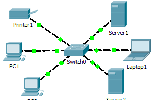 ЛВС с серверами