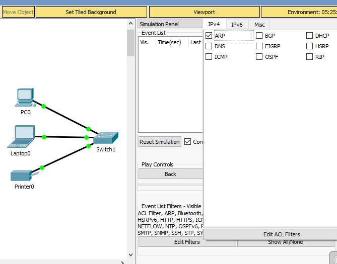Simulation mode ARP