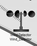 работающий детектор ветра